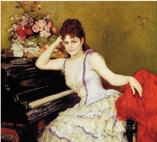 伊里亚·叶菲莫维奇·列宾 索菲亚·罗西菲芙娜·门特尔肖像