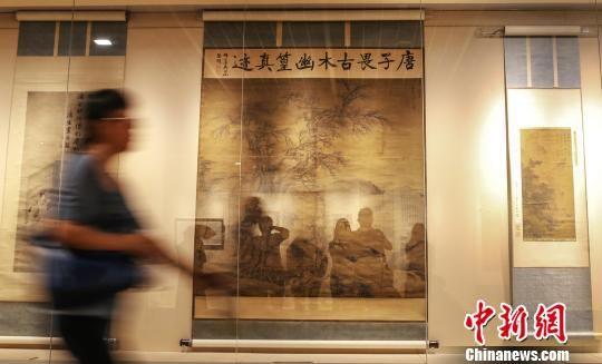 南京博物院所藏唐伯虎书画全展出。 泱波 摄