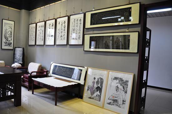 京津墨韵四人书画展在天津举行