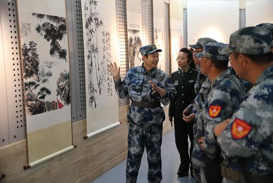 王国洲书画展在西柏坡纪念馆举办