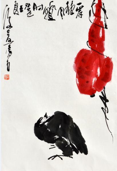 扈鲁《一岸秋风瓜熟时》,2013年