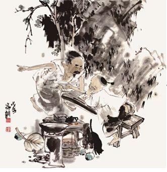 王家训中国人物画的笔墨之美